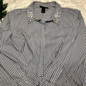 Lane Bryant! Jeweled Button Down shirt